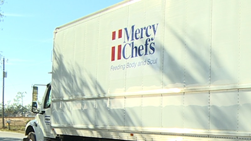 Volunteers handed out nearly 20,000 meals.