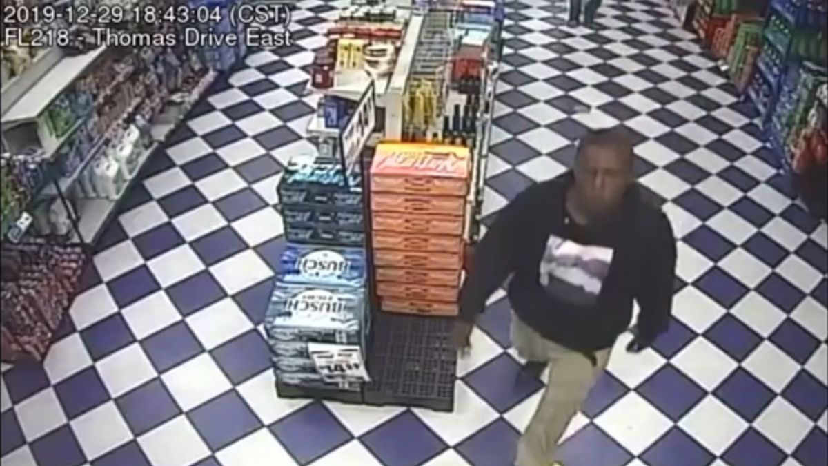 Bay County Sheriff's Officials released video Tuesday of a person of interest in a homicide case. (Bay County Sheriff's Office)
