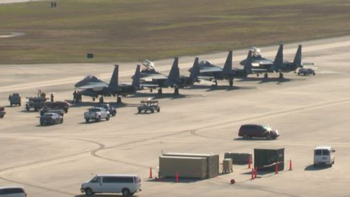 More than 50 aircraft and 1,000 airmen and women are at Tyndall Air Force Base for the...