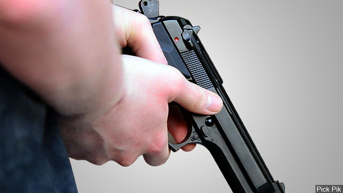 Deputies were told the man eventually ran away when the pastor showed his semiautomatic pistol....