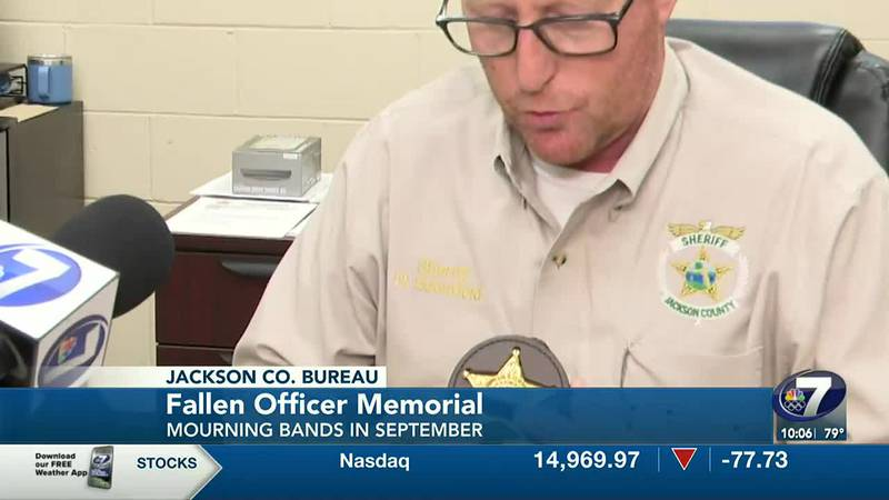 Fallen officers are memorialized.