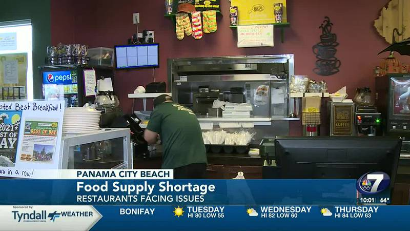Local restaurants are facing a food supply shortage.