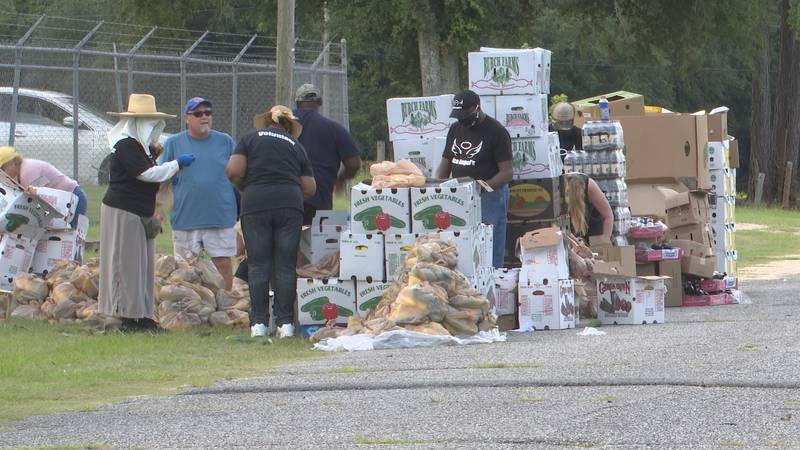 Every month, JACO Angels pass out food at Greenwood Community Park to Jackson County residents...