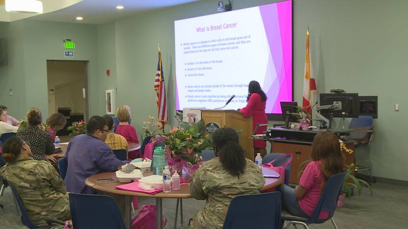 The inaugural Bay Breast Cancer Awareness Symposium was held at Gulf Coast State College.