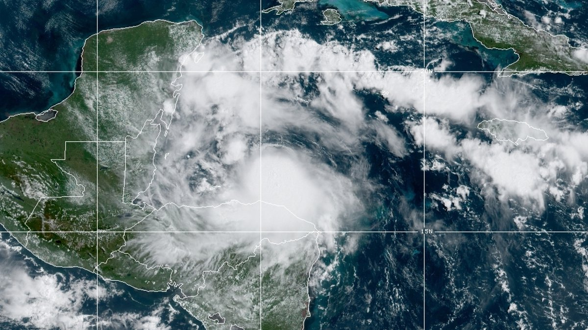 Heavy rains were expected in Belize, as well as in northern Honduras and throughout Guatemala.