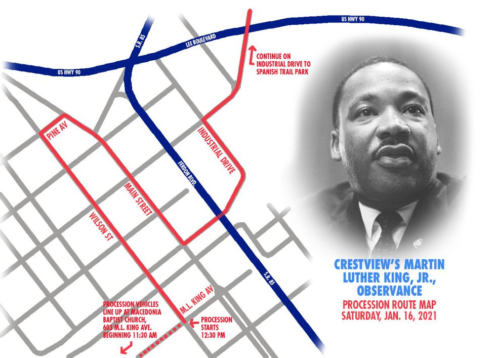 The event kicks off Saturday, January 16, with a vehicle processional beginning at 12:30pm...