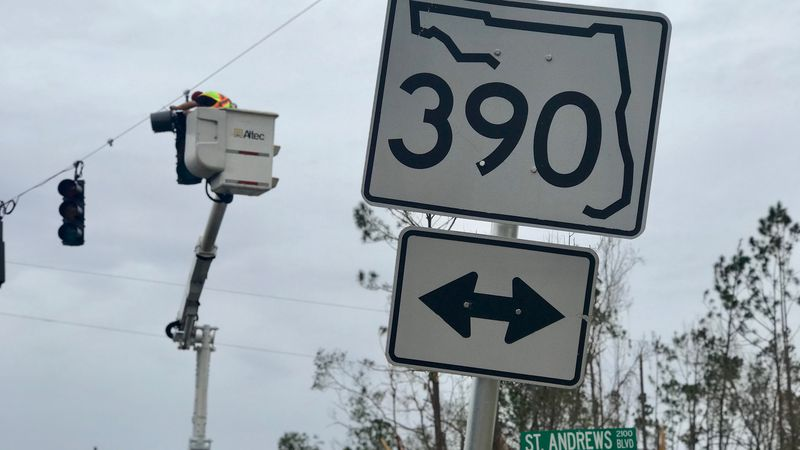 Highway 390 has been under construction since before hurricane Michael