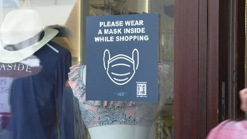 Seaside visitors will have to wear masks when shopping in retail stores. (WJHG/WECP)