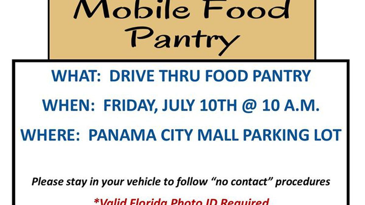 The event will begin at 10 a.m. at the Panama City Mall and continue until supplies run out.