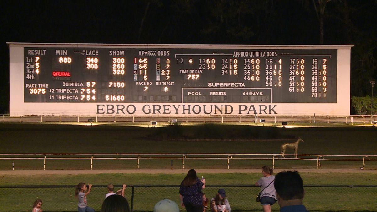 Live greyhound racing will no longer be at Ebro Greyhound Park. (WJHG/WECP)