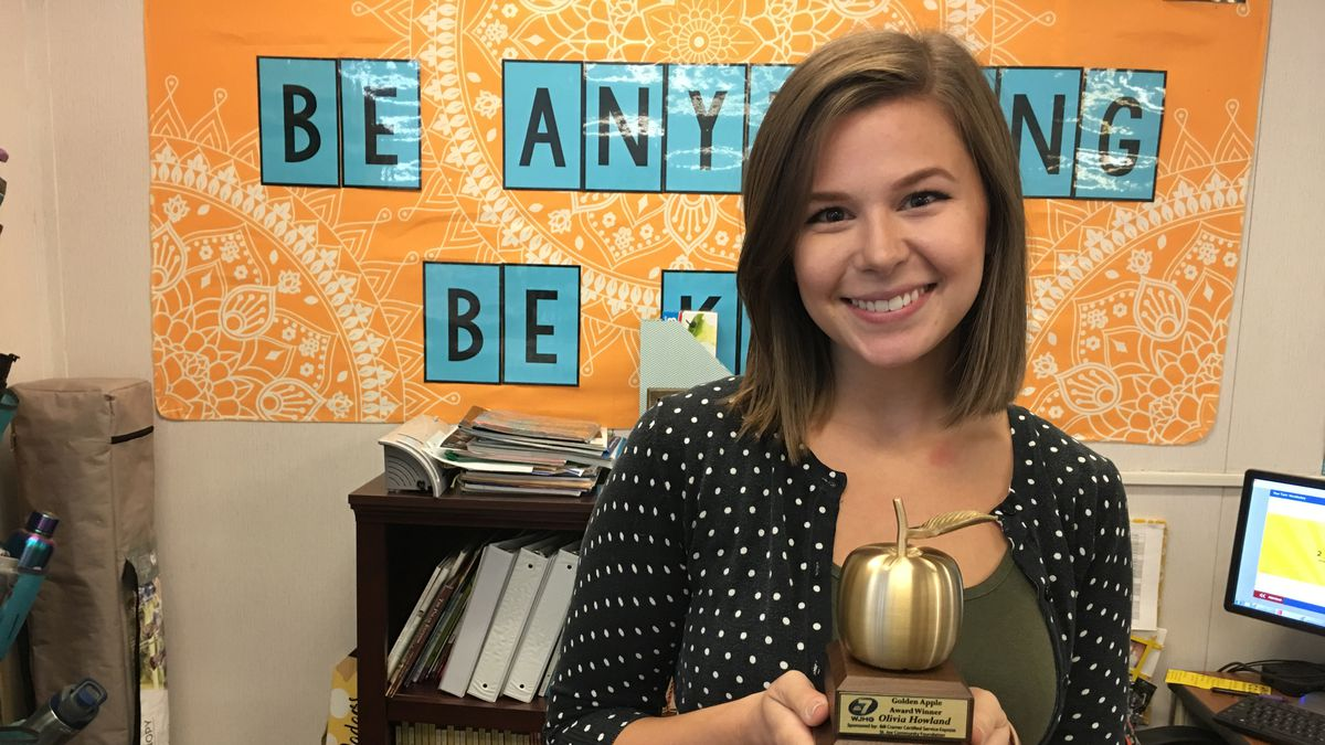 The Golden Apple goes to Olivia Howland of Bay Haven Charter Academy.<br />(WJHG)