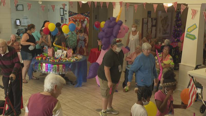 Step right up, come one and come all, a local assisted living facility brought a carnival to...