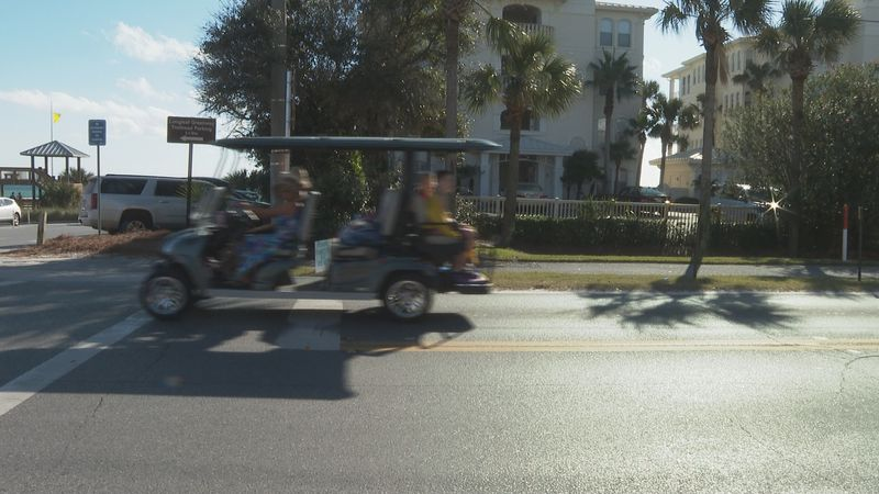 New signs will be posted along the 30A corridor for golf cart and low speed vehicle drivers.