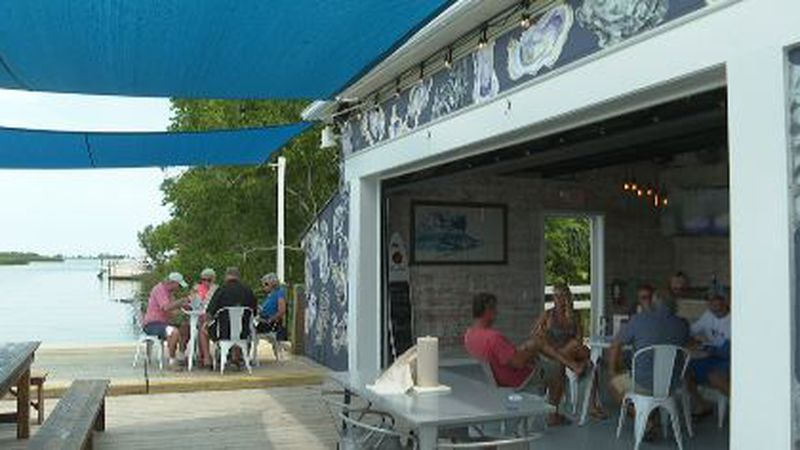 Restaurants in Apalachicola are say they're seeing business boom after being closed for weeks...