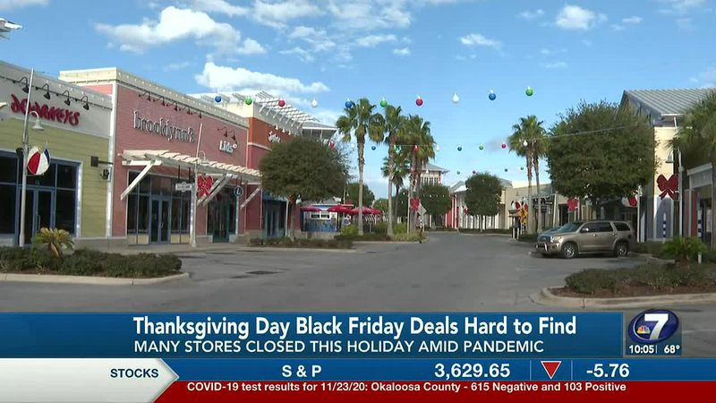 Many stores that typically offer Thanksgiving Day Black Friday deals were closed this year...