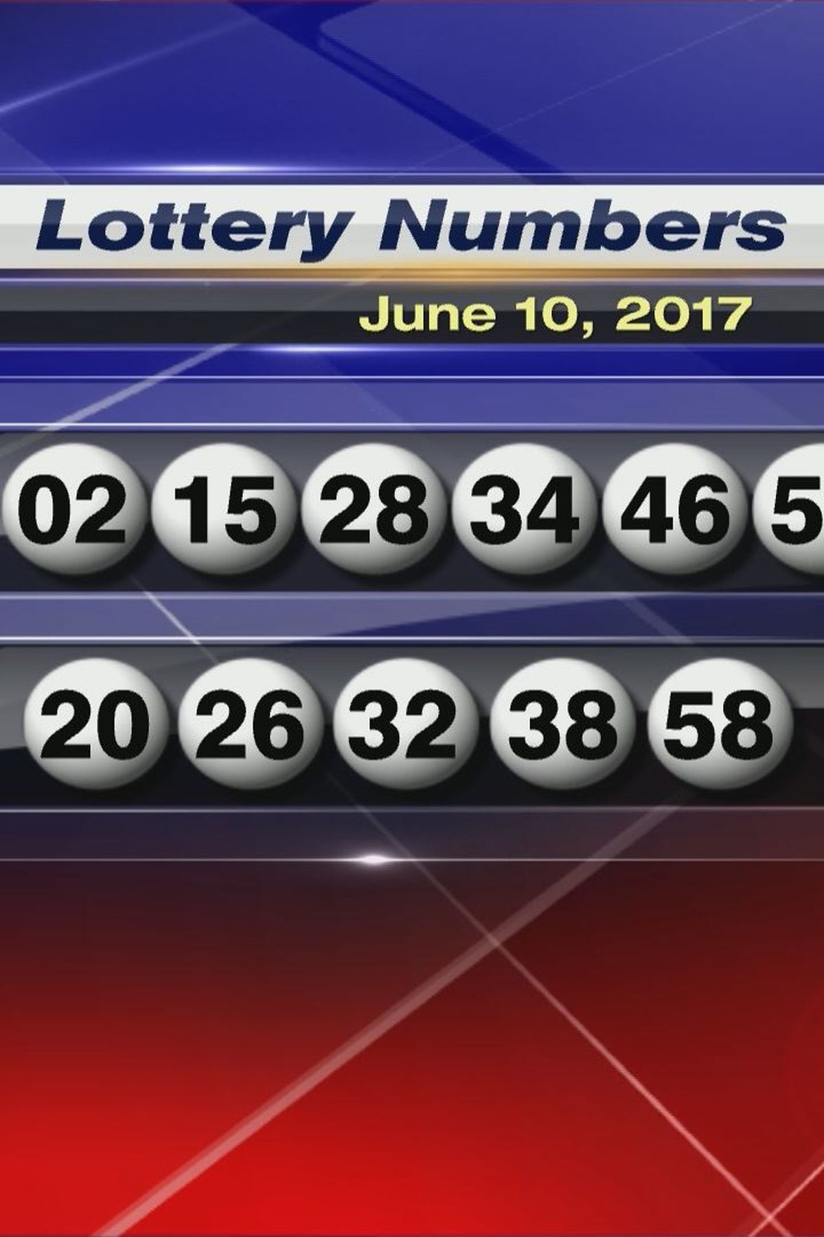 Saturday 6 10 2017 Lottery Numbers