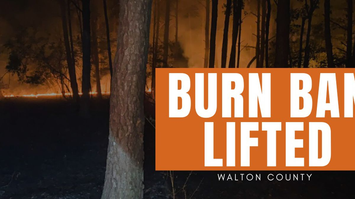 Walton County Commissioners lifted the burn ban in Walton County. (Walton County Fire Rescue)