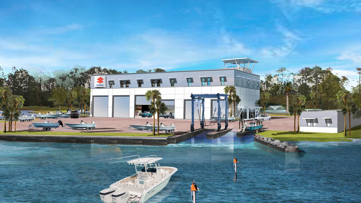 Suzuki Marine Technical Center will open a facility in Panama City. This is a rendering of what...