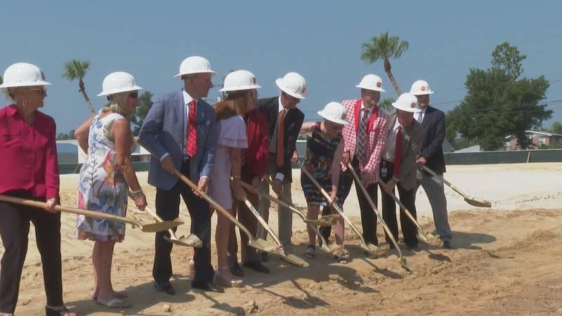 Bay High School celebrates the groundbreaking of the new fine arts center.