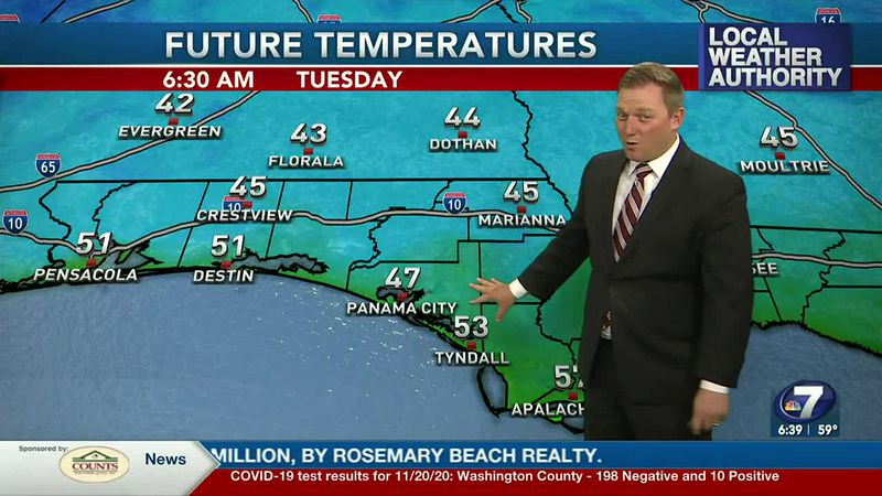 Meteorologist Ryan Michaels says it'll get downright chilly tonight into tomorrow morning.