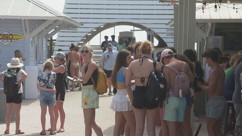 South Walton is seeing thousands more visitors this spring.