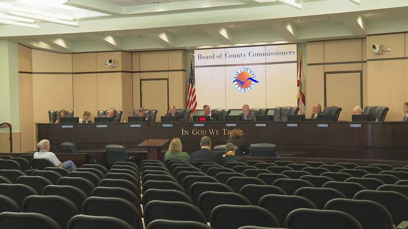 Bay County Commissioners discuss paying back FEMA loan at its meeting Tuesday.