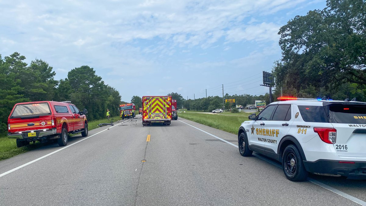 At least one person is dead after a crash in Mossy Head.