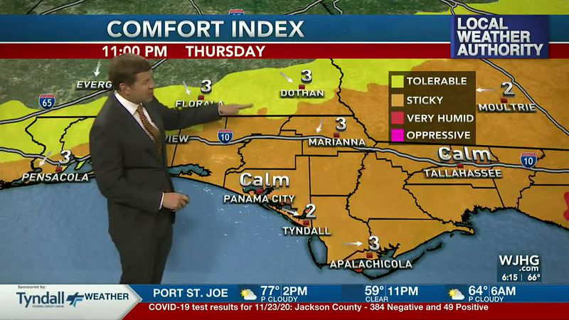 The humidity and rain chances are on the increase