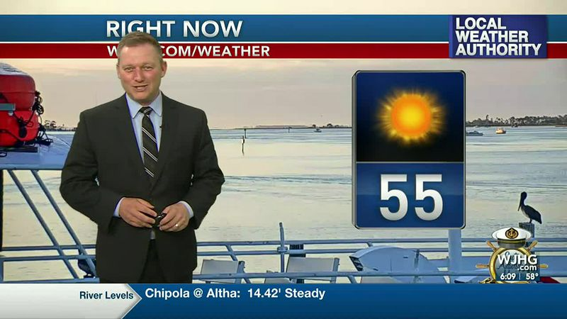 Meteorologist Ryan Michaels showing this morning's beautiful current conditions.