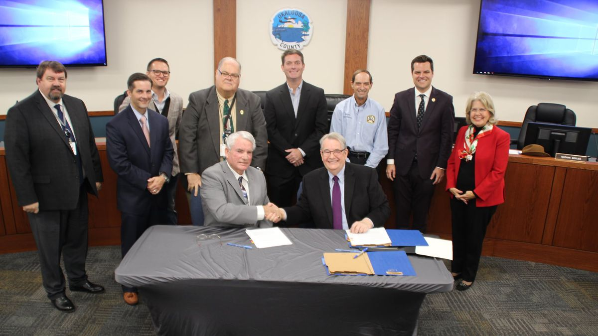A $64.1 million grant from Triumph Gulf Coast has been signed to help with construction of the...