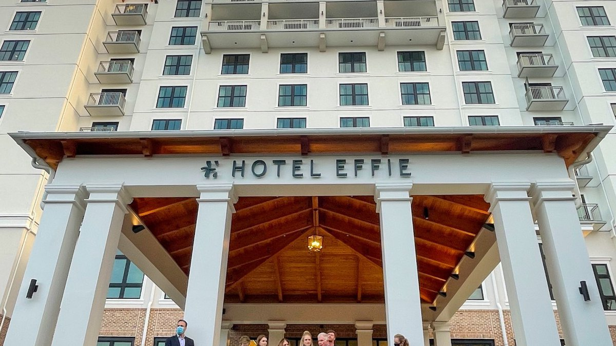 Hotel Effie held an open ribbon cutting and rooftop celebration to celebrate its official grand...