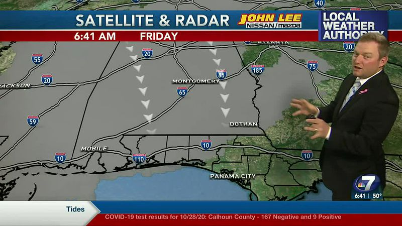 Meteorologist Ryan Michaels says some start out with a bit of cloud cover this morning.