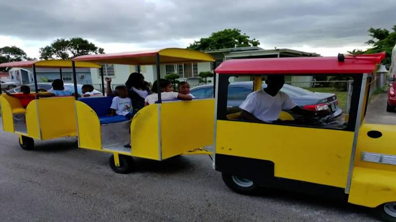 The owner of a yellow trackless party train is back in business after the vehicle, stolen by a...