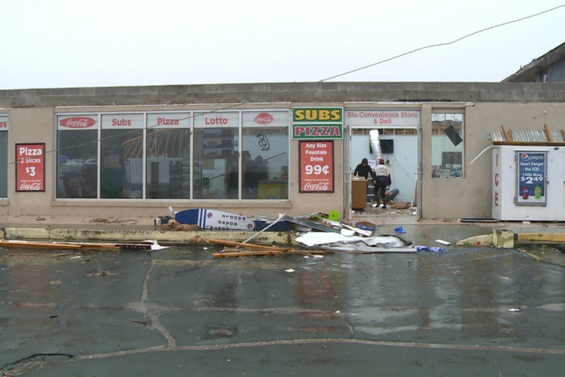 Blu Convenience Store & Deli along Front Beach Road in Panama City Beach didn't stand a chance...