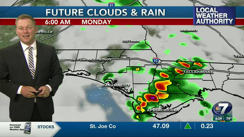 Meteorologist Ryan Michaels says we'll have widely scattered rain chances today.