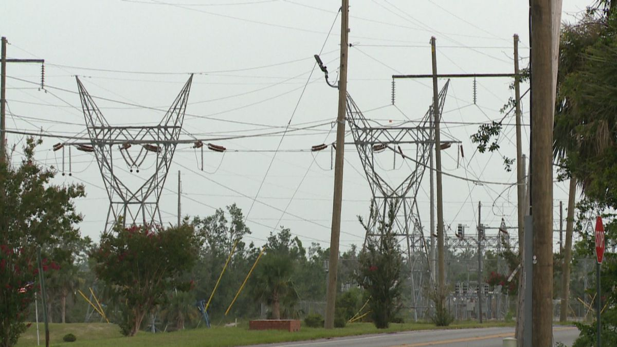 Some telephone and cable poles are left hanging in Springfield.(WJHG/WECP)