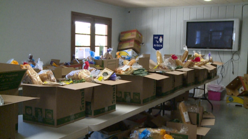The West Bay Advent Christian Church in Panama City Beach held its first food drive Wednesday...