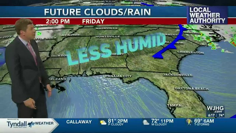 Less humid air is on the way.