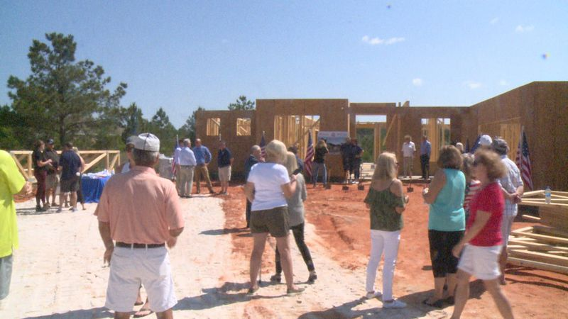 The Goudies were gifted the home from Building Homes for Heroes and Holiday Builders.