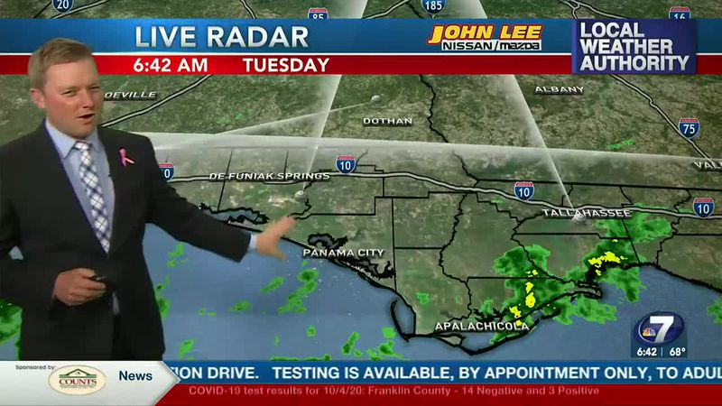 Meteorologist Ryan Michaels says most of the scattered showers will be very light in nature.