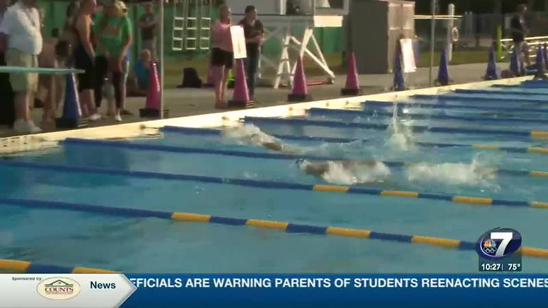 Mosley gets overall win at PCB Aquatic Center Thursday