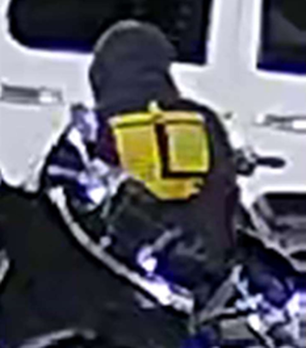 Police believe the suspect in this picture stole a motorcycle from a hotel parking lot along...