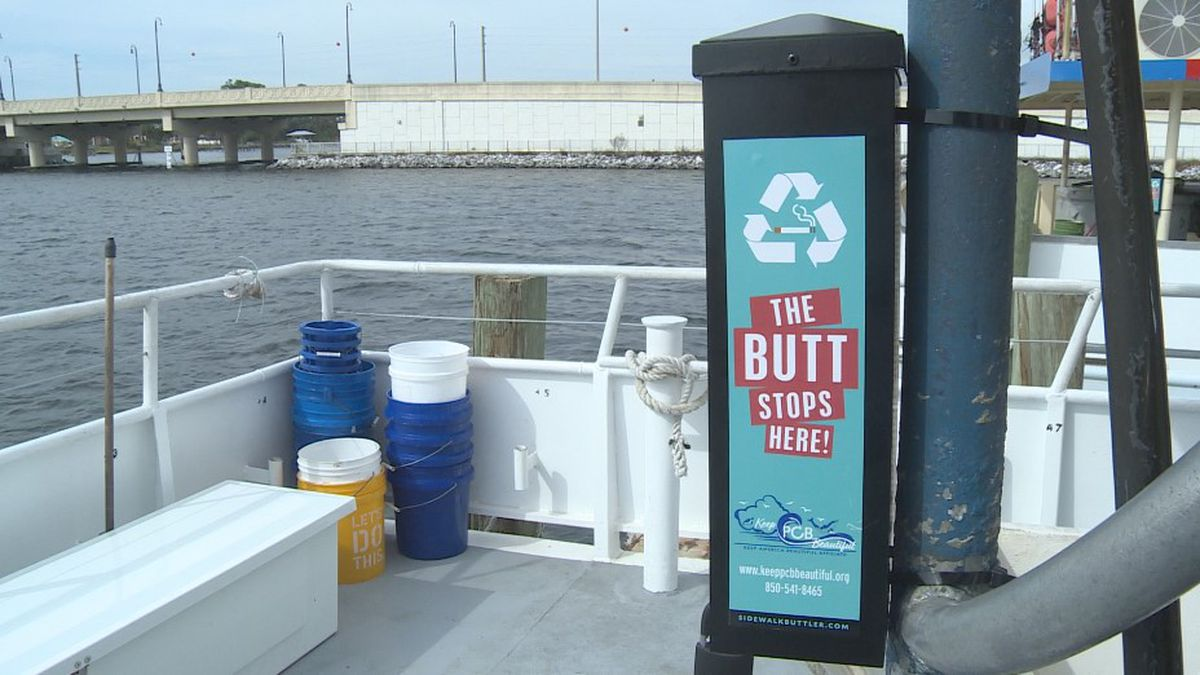 Keep PCB Beautiful has installed 54 cigarette litter receptacles around Panama City Beach. <br />(WJHG)
