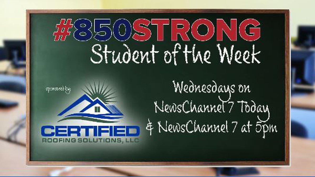 This week's 850Strong Student of the week is Michael Morris.(WJHG/WECP)