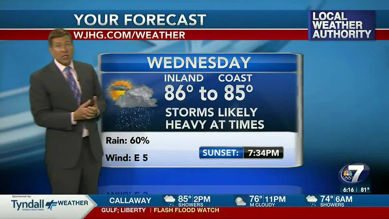 Wet weather remains in the forecast through Wednesday.