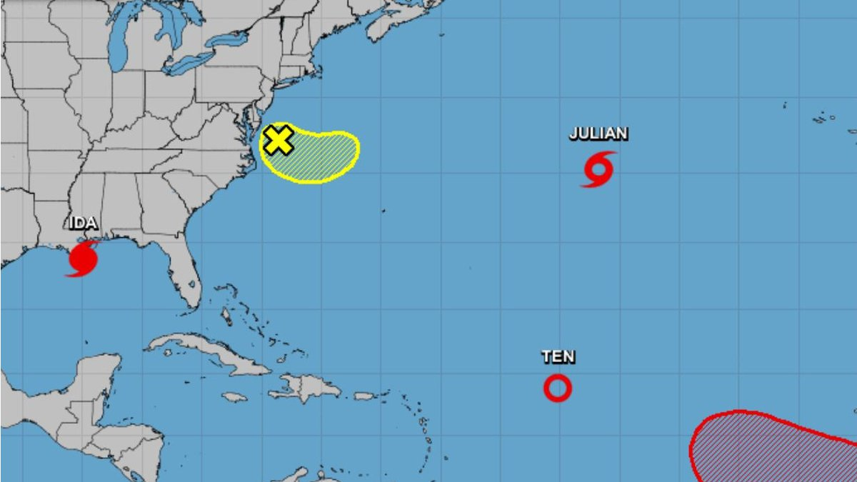 Tropical Storm Julian formed in the Atlantic on Sunday.