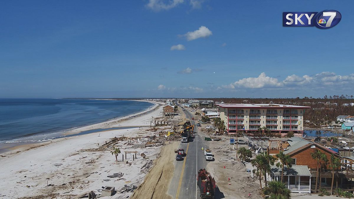 Mexico Beach is getting help with a beach erosion project.<br />(WJHG/WECP)