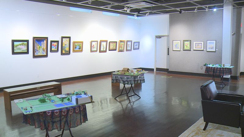 Six models were on display at the Panama City Center for the Arts.