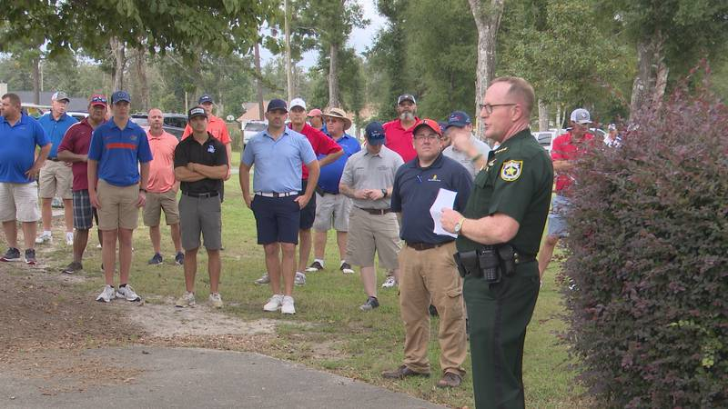 Sheriff Edenfield thanked the teams for coming to support the Youth Ranch before sending them...