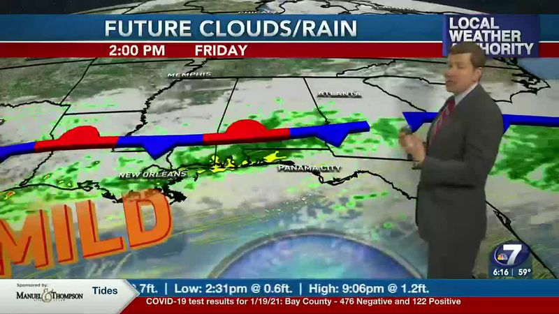 More clouds and better rain chances are in the forecast.